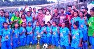 বঙ্গমাতা গোল্ডকাপ ফুটবল টুর্নামেন্টে ফাইনালে যাচ্ছে শ্রীমঙ্গল বালিকা দল