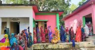 ভোটারদের দীর্ঘ লাইন, নিরাপত্তার চাদরে শ্রীমঙ্গল